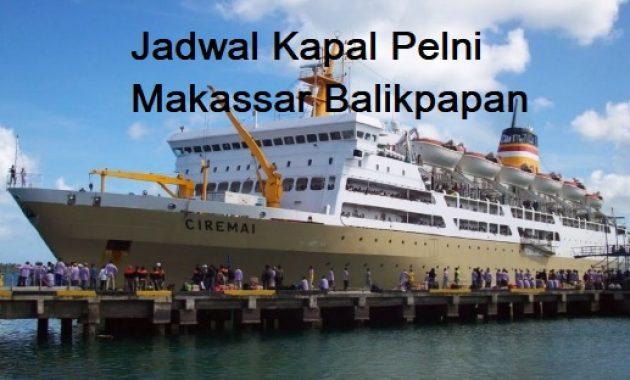 Jadwal Kapal Pelni Makassar Balikpapan